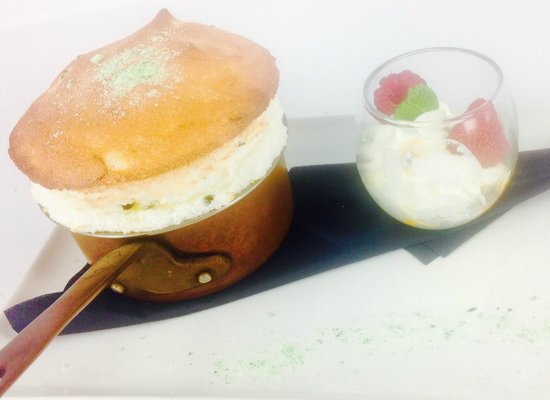 Augustines on George: Passion Fruit and candied Lime Soufflé
