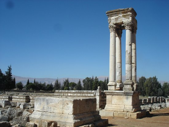 Anjar, Lebanon: Columns at the Crossroad