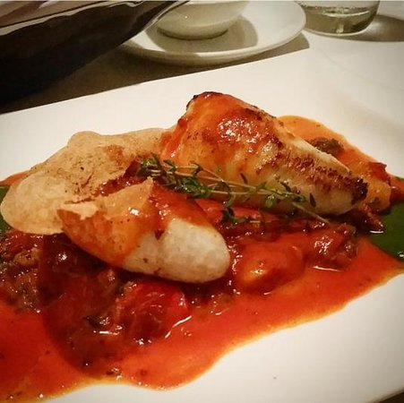 Le Beaulieu: Squid stuffed with pork belly and chorizo