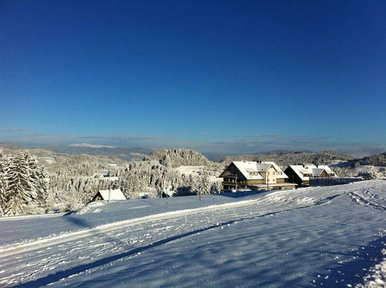 Ribnica na Pohorje, Slovenia: View  from  the slopes