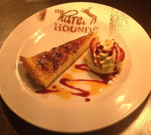 The Hare & Hounds: Lemon tart