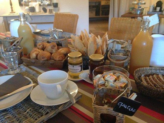 Domaine de la Corgette : Le petit déjeuner