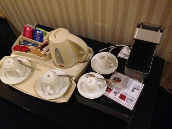InterContinental Riyadh: Plastic trays and the worlds most complicated coffee maker