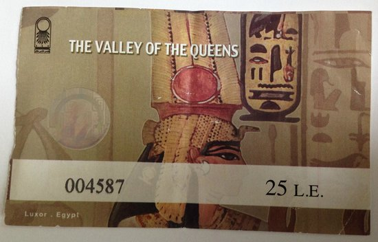 Valley of the Queens: Student Entry Ticket
