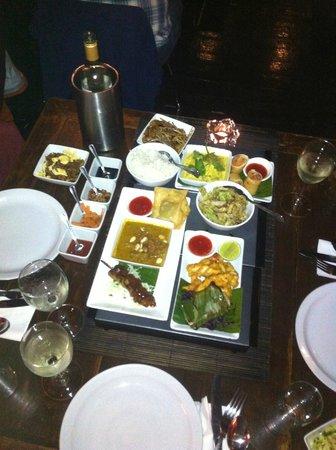 Chameleon Restaurant: some of our food (tastes better than it looks!)