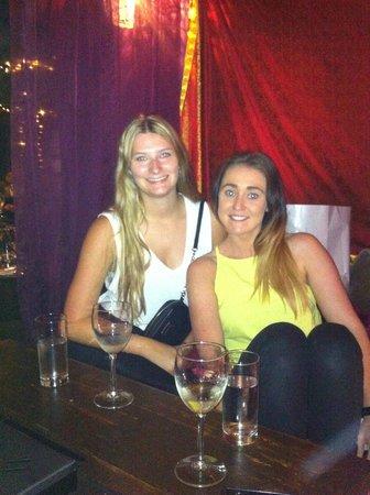 Chameleon Restaurant: katrina and her friend chelsea visiting us from Australia!