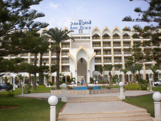 Amir Palace: front of hotel