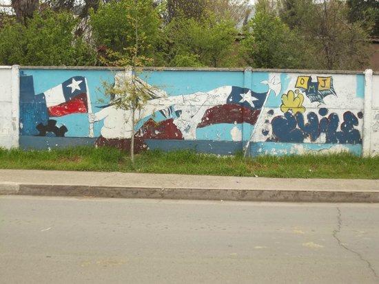 Quinta de Tilcoco, Chile: Murales a Quinta