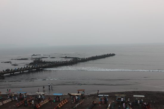 Hotel Sea Fans : Mandvi Beach & Jetty seen from room