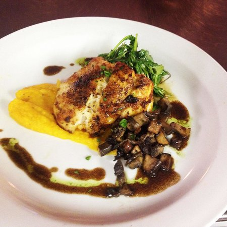 The Bistro at Just Baked: Grouper, Butternut squash puree