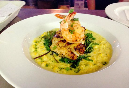 The Bistro at Just Baked: Grouper Sweet Corn Coulis