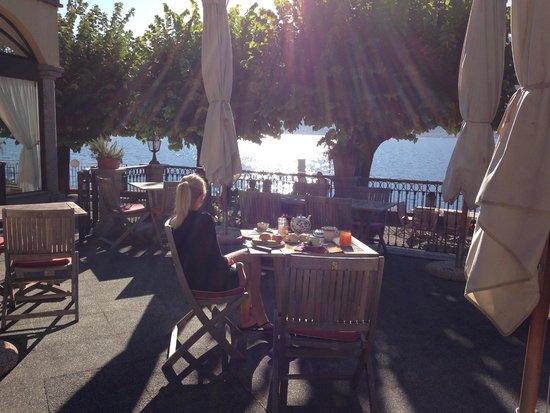 Hotel Ristorante Taverna Bleu : Breakfast terrace