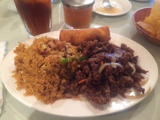 Kim Wu Chinese Restaurant: Crispy Beef and Fried Rice