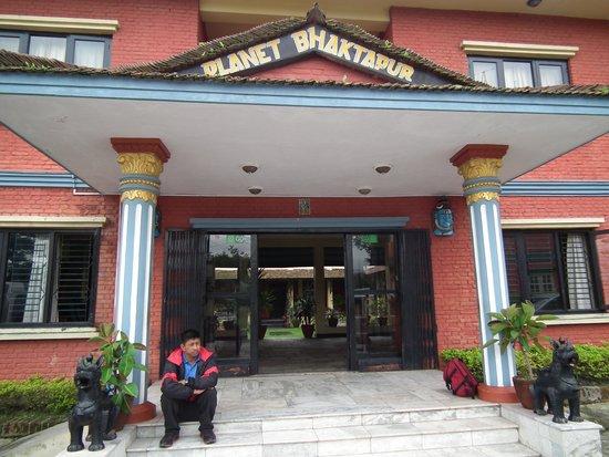 Planet Bhaktapur Hotel : la facciata