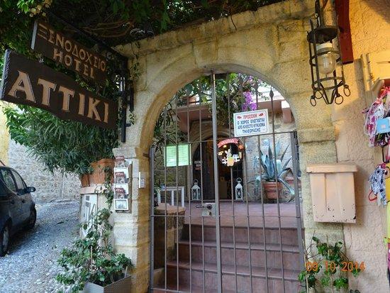 Hotel Attiki: Entrance to Attiki Hotel, Rhodes