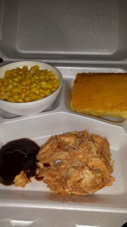 Becky's BBQ: BBQ Chicken lunch platter