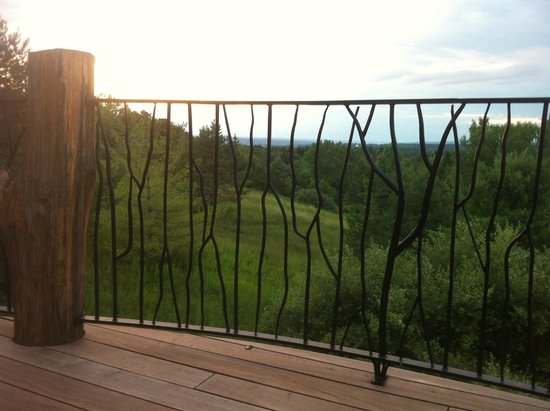 Stone Quarry House: Wrought Iron Fence and Railing on Hilltop House Veranda