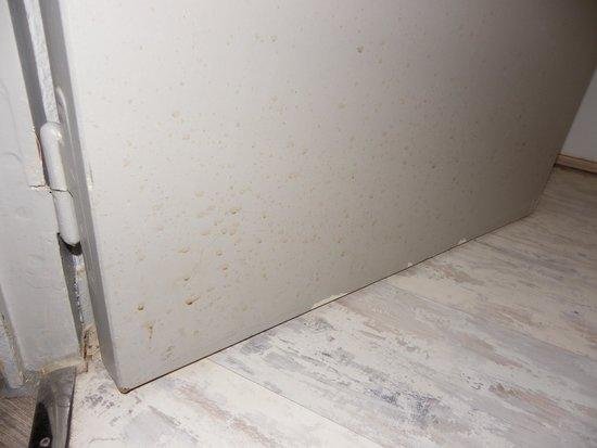Hotel Inn Design Resto Novo Bourges : Taches suspectes sur la porte des WC