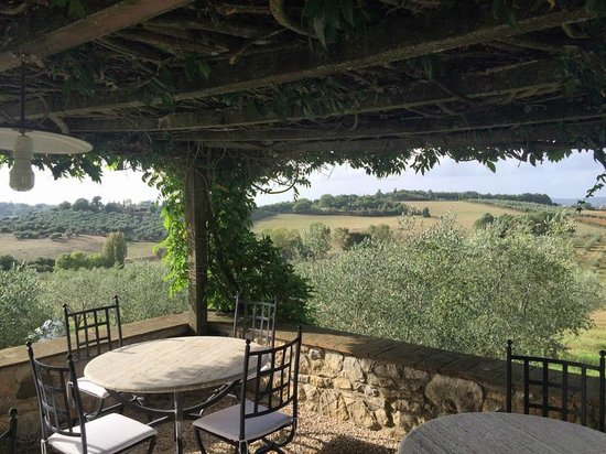 Podere Dionora: Outside covered sitting area for guests