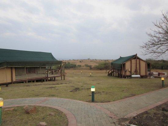 Zulu Nyala Heritage Safari Lodge: View from Elephant Camp #1 (guest room)