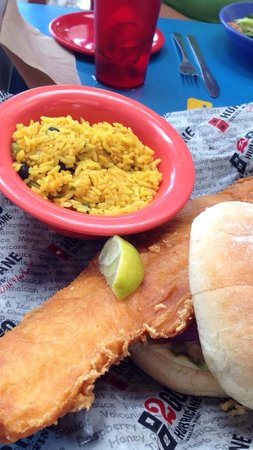 Hurricane Grill & Wings: Beer battered fish sandwich