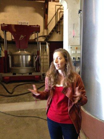 BD Tours: Wine Tours In Bordeaux: Our lovely young host Flurélie from Chateau du Tailhas