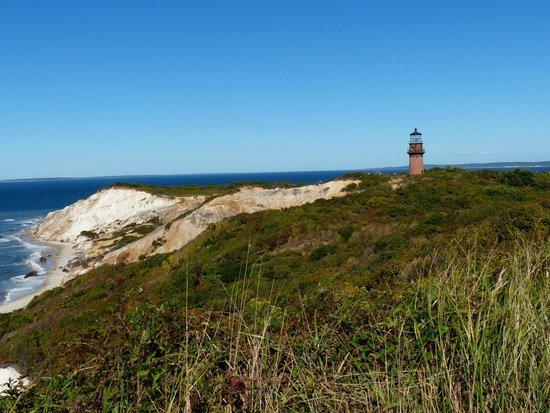 Duck Inn: Acquinnah cliffs and lighthouse