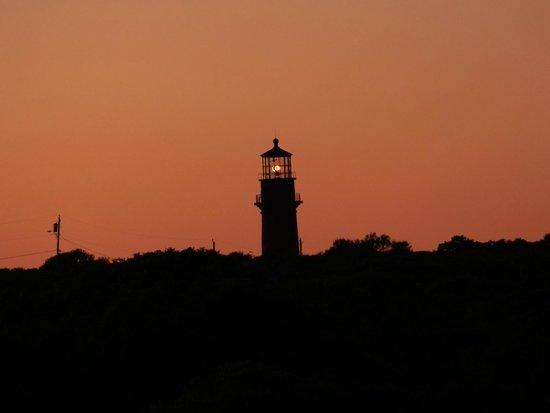 Aquinnah Lighthouse: Lighthouse seen at sunset