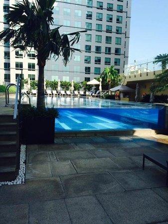 Transparent pool at the InterContinental Asiana Saigon