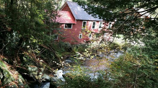 Thundering Falls Trail: 1950's House below with hydro electric