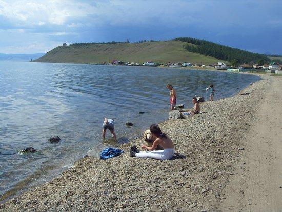 Khövsgöl Nuur: температура воды около 16 градусов, купаться можно, я позволил себе)
