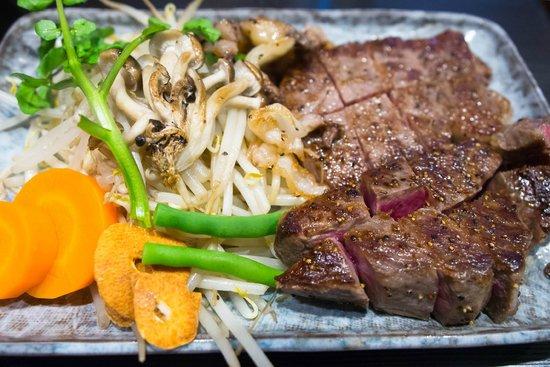 Steak House Satou : A5 Matsusaka Wagyu Sirloin steak ¥10000
