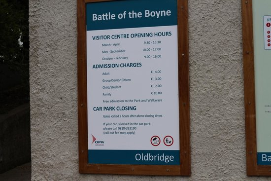 Oldbridge Estate/Battle of the Boyne Visitors Centre: Entry prices