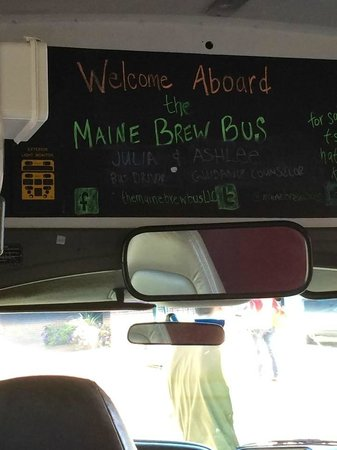 The Maine Brew Bus: inside the bus