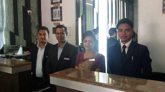 Hotel Royal Highness: Happy staff @ Royal Highness Tinsukia