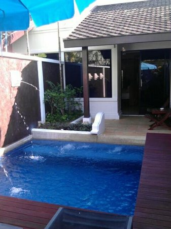Access Resort & Villas : pool and on turning on the power supply lions showered water