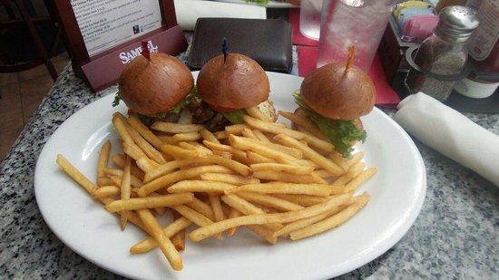 Burger Bar : 3 mini hamburger