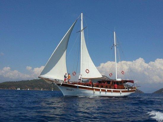 Gocek Lila Boat: great sailing 12 islands on the gulet Günay 1