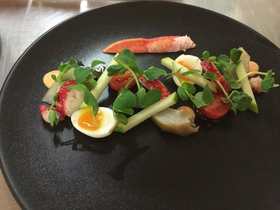 Langrish House: Lobster salad with Marie Rose sauce