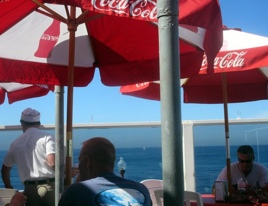 Outside Patio Area - Awesome Views - Ruby's Diner, Oceanside, Ca
