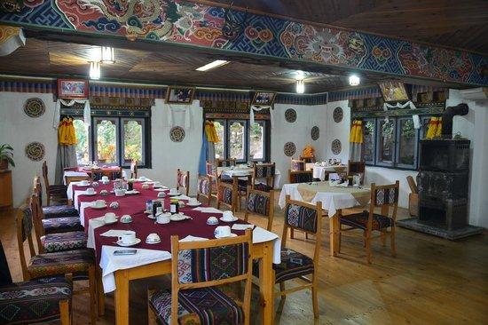 Wangdicholing Guest House: Bhutan Jakar hotel Wangdicholing ristorante