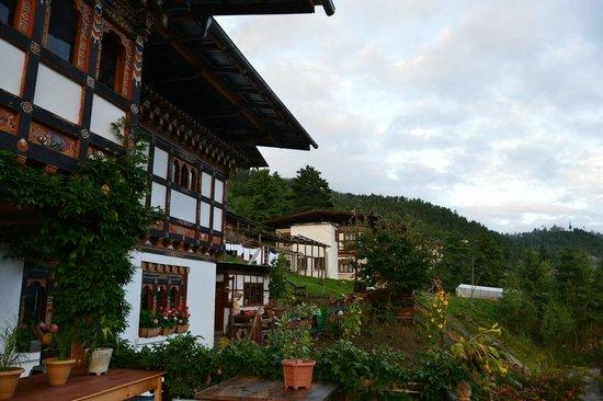Wangdicholing Guest House: Bhutan Jakar hotel Wangdicholing terrazza