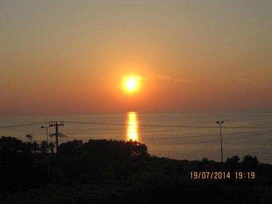 Hotel Rethymnon Mare : solnedgång