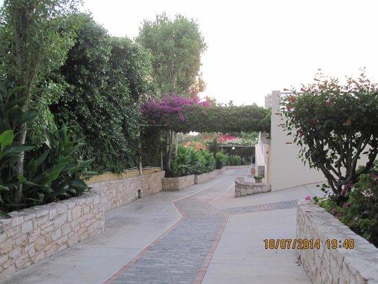Hotel Rethymnon Mare : på väg ner till restaurangen