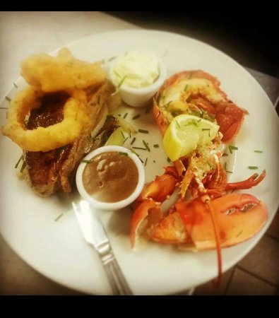 The Oyster Tavern: One of the specials - surf and turf!