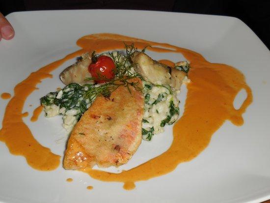 Halbersbacher. Hotel Annaberg: heerlijke vismenu