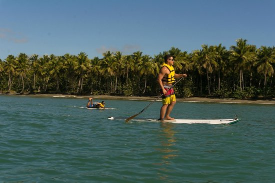 Rio San Juan, Repubblica Dominicana: Stand Up Paddle Boarding on the Clear Blue Ocean!