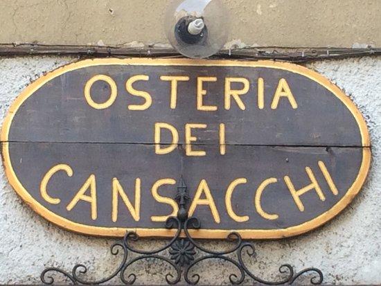 Osteria Dei Cansacchi : L'insegna del ristorante