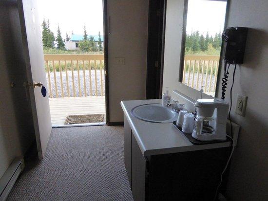 Healy, AK: Waschgelegenheit/Fön im Zimmer / Bad&WC separat