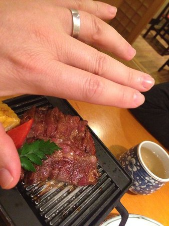 SongZi Japanese Restaurant (BaiJiaZhuang): Grilled beef tenderloin - what a let down.